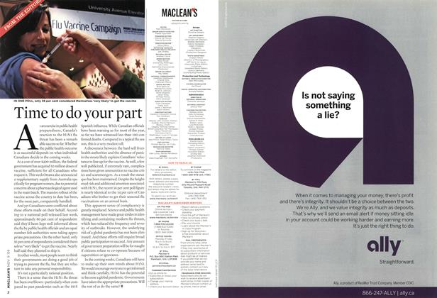 Article Preview: Time to do your part, NOV. 9th 2009 2009 | Maclean's