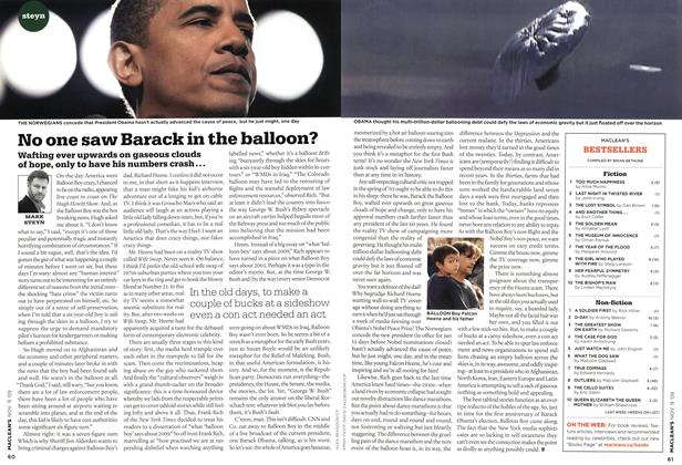 Article Preview: No one saw Barack in the balloon?, NOV. 9th 2009 2009 | Maclean's