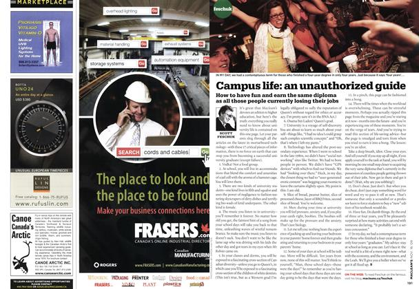 Article Preview: Campus life: an unauthorized guide, NOV. 16th 2009 2009   Maclean's