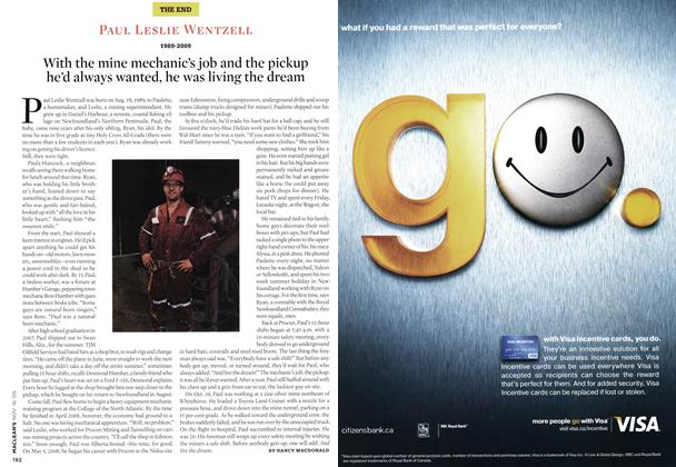 Article Preview: PAUL LESLIE WENTZELL 1989-2009, NOV. 16th 2009 2009 | Maclean's