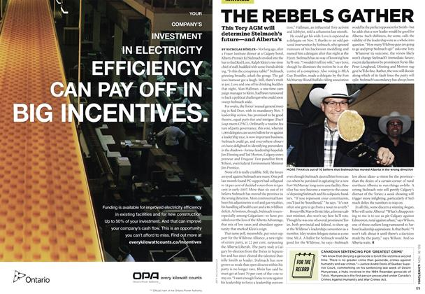 Article Preview: THE REBELS GATHER, NOV. 16th 2009 2009 | Maclean's