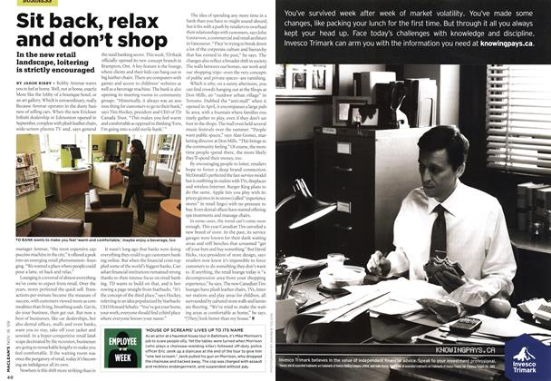 Article Preview: Sit back, relax and don't shop, NOV. 16th 2009 2009 | Maclean's