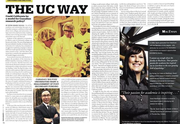 Article Preview: THE UC WAY, NOV. 16th 2009 2009 | Maclean's