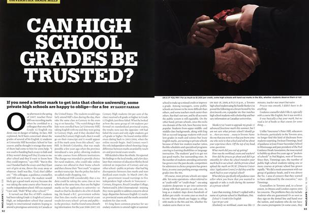 Article Preview: CAN HIGH SCHOOL GRADES BE TRUSTED?, NOV. 16th 2009 2009 | Maclean's