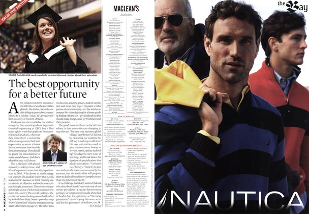 Article Preview: The best opportunity for a better future, NOV. 16th 2009 2009 | Maclean's