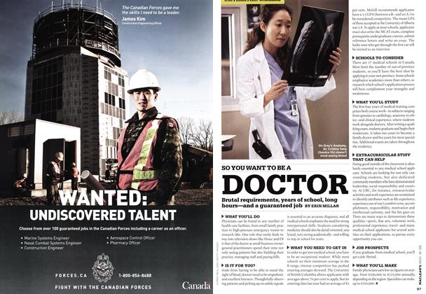 Article Preview: SO YOU WANT TO BE A DOCTOR, NOV. 16th 2009 2009 | Maclean's