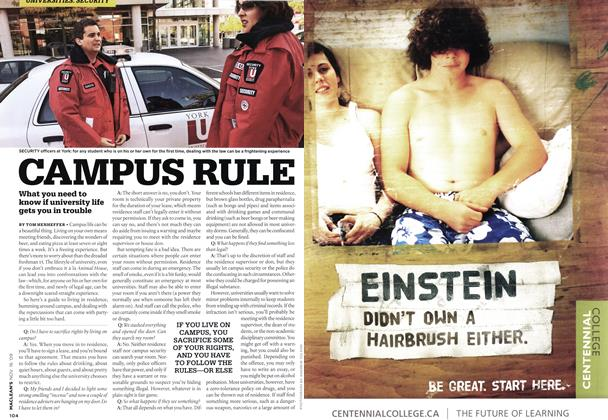 Article Preview: CAMPUS RULE, NOV. 16th 2009 2009 | Maclean's