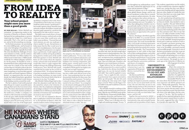 Article Preview: FROM IDEA TO REALITY, NOV. 16th 2009 2009 | Maclean's