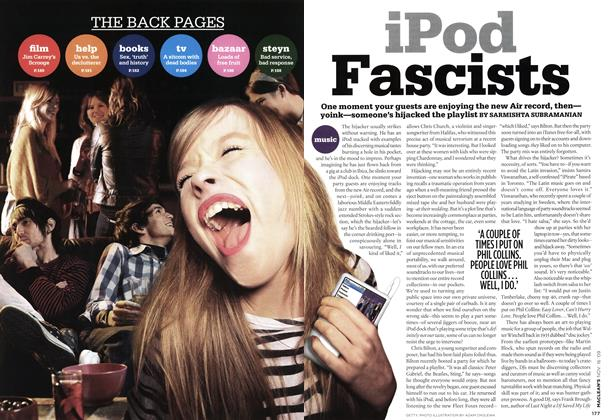 Article Preview: iPod Fascists, NOV. 16th 2009 2009 | Maclean's