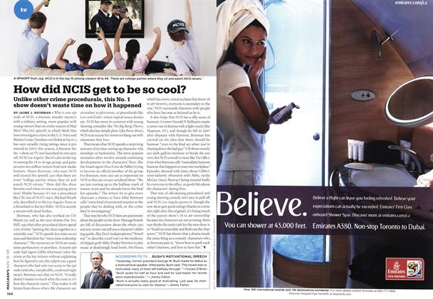 Article Preview: How did NCIS get to be so cool?, NOV. 16th 2009 2009 | Maclean's