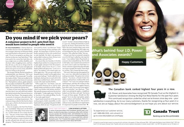 Article Preview: Do you mind if we pick your pears?, NOV. 16th 2009 2009 | Maclean's