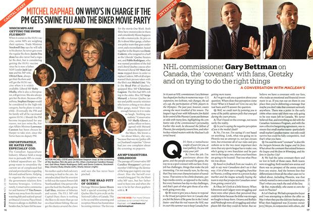 Article Preview: INTERVIEW, NOV. 23rd 2009 2009 | Maclean's