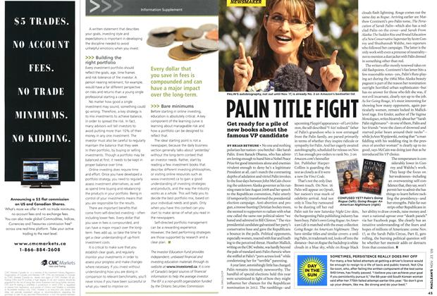 Article Preview: PALIN TITLE FIGHT, NOV. 23rd 2009 2009 | Maclean's