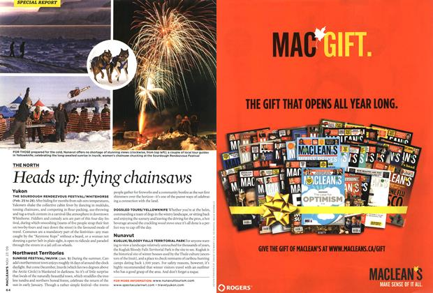 Article Preview: Heads up: flying chainsaws, NOV. 23rd 2009 2009 | Maclean's