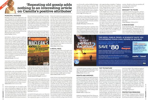 Article Preview: MAIL BAG, NOV. 23rd 2009 2009 | Maclean's