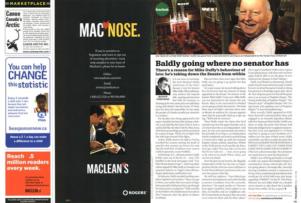 Article Preview: Baldly going where no senator has, NOV. 23rd 2009 2009 | Maclean's