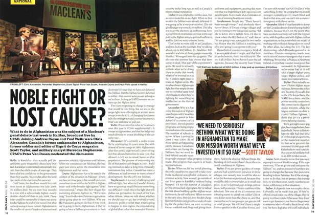 Article Preview: NOBLE FIGHT OR LOST CAUSE?, NOV. 30th 2009 2009 | Maclean's