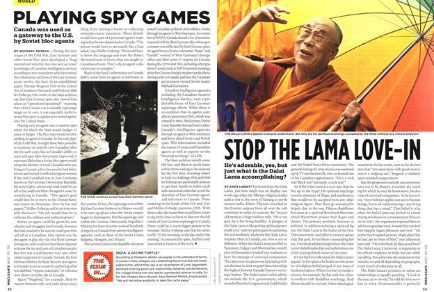 Article Preview: STOP THE LAMA LOVE-IN, NOV. 30th 2009 2009 | Maclean's