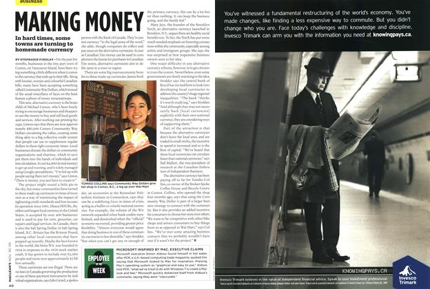 Article Preview: MAKING MONEY, NOV. 30th 2009 2009 | Maclean's