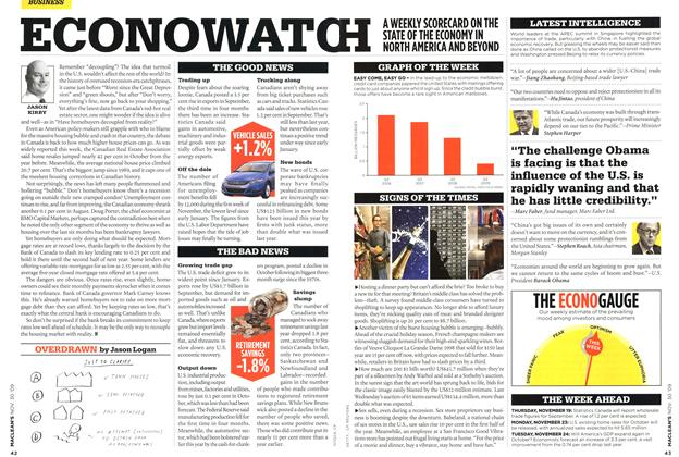 Article Preview: ECONOWATCH, NOV. 30th 2009 2009 | Maclean's