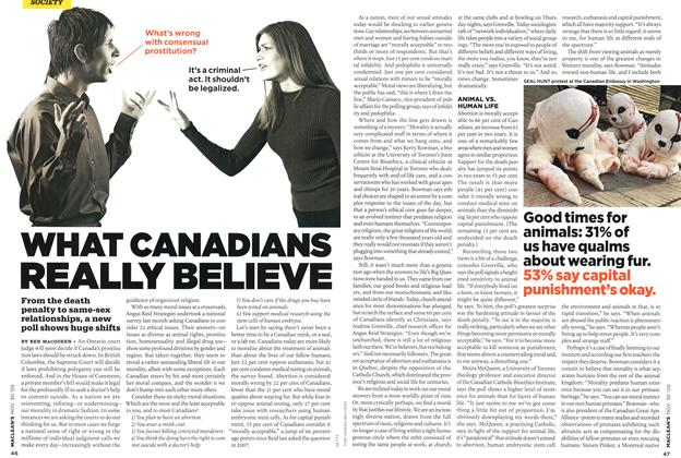 Article Preview: WHAT CANADIANS REALLY BELIEVE, NOV. 30th 2009 2009 | Maclean's