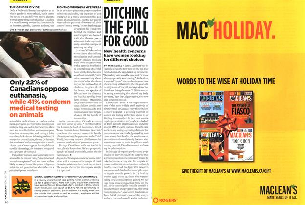Article Preview: DITCHING THE PILL FOR GOOD, NOV. 30th 2009 2009 | Maclean's