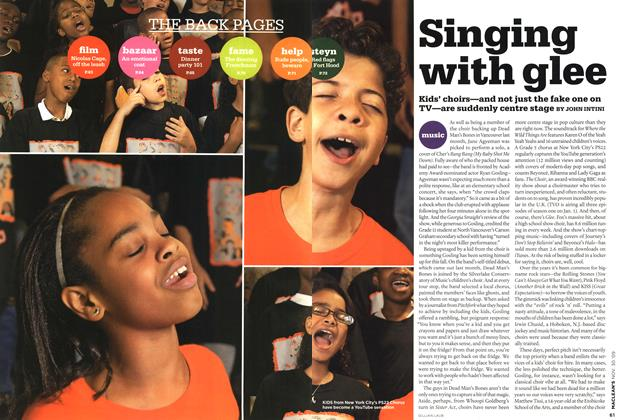 Article Preview: Singing with glee, NOV. 30th 2009 2009 | Maclean's