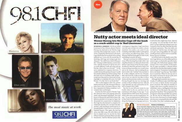 Article Preview: Nutty actor meets ideal director, NOV. 30th 2009 2009 | Maclean's