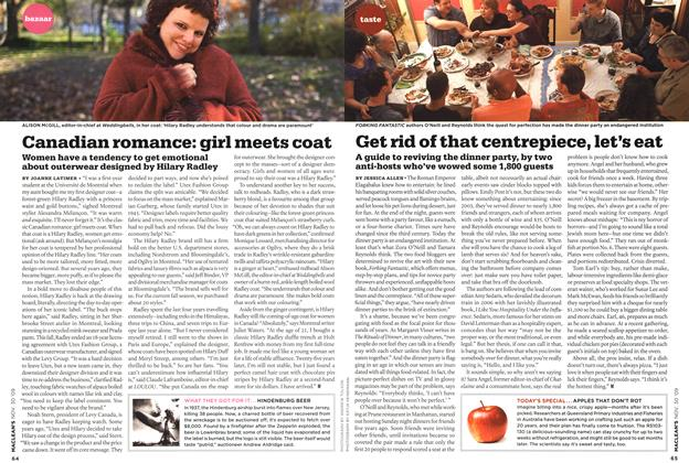 Article Preview: Canadian romance: girl meets coat, NOV. 30th 2009 2009 | Maclean's