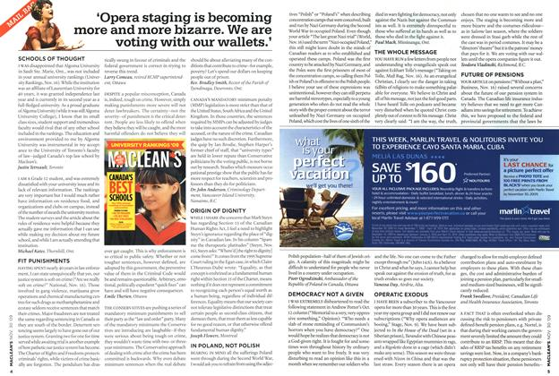 Article Preview: 'Opera staging is becoming more and more bizarre. We are voting with our wallets.', NOV. 30th 2009 2009 | Maclean's