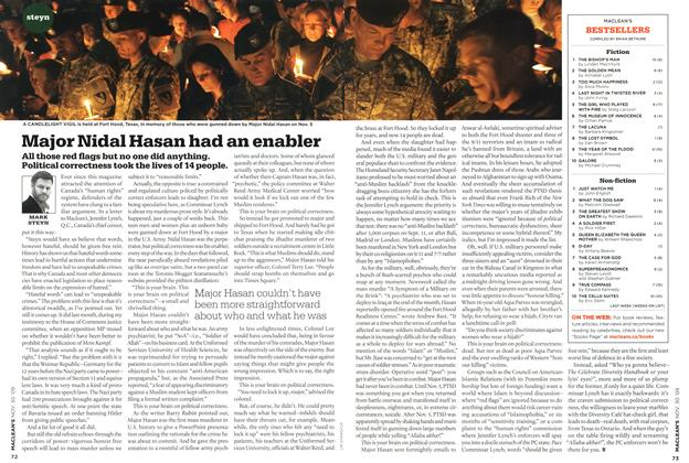 Article Preview: Major Nidal Hasan had an enabler, NOV. 30th 2009 2009 | Maclean's