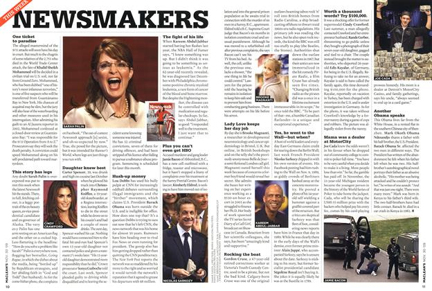 Article Preview: NEWSMAKERS, NOV. 30th 2009 2009 | Maclean's