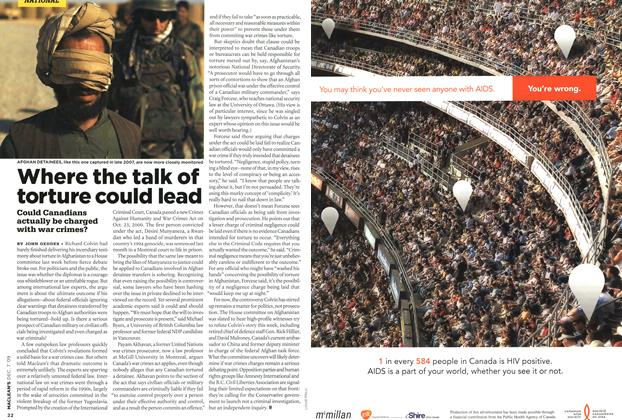 Article Preview: Where the talk of torture could lead, DEC. 7th 2009 2009 | Maclean's
