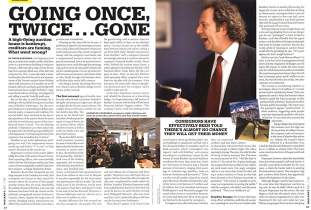 Article Preview: GOING ONCE, TWICE.. .GONE, DEC. 7th 2009 2009 | Maclean's