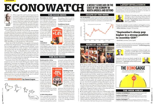 Article Preview: ECONOWATCH, DEC. 7th 2009 2009 | Maclean's
