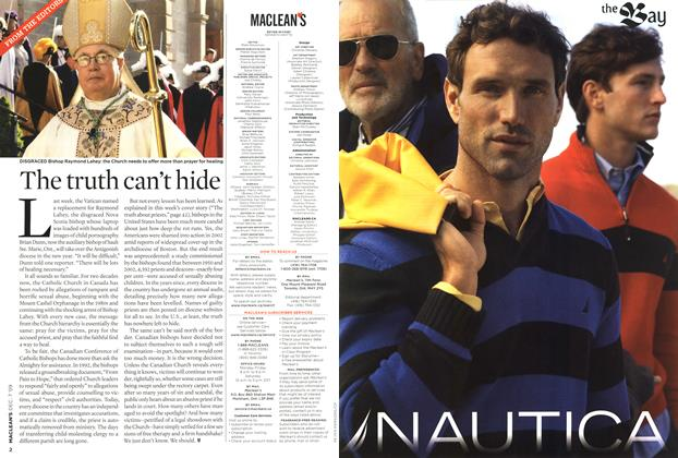 Article Preview: The truth can't hide, DEC. 7th 2009 2009 | Maclean's