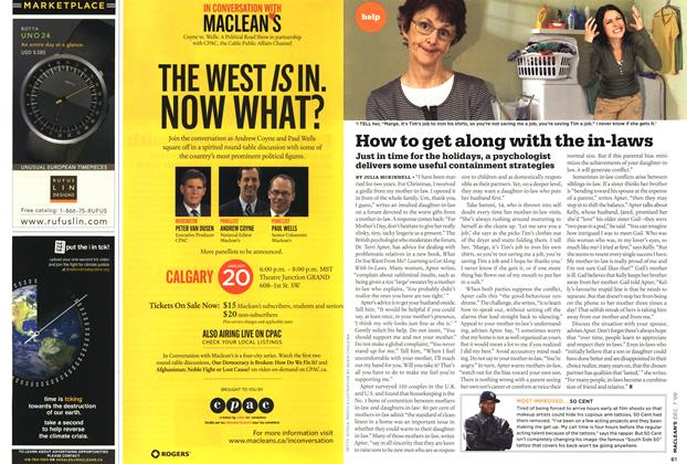 Article Preview: How to get along with the in-laws, DEC. 7th 2009 2009 | Maclean's