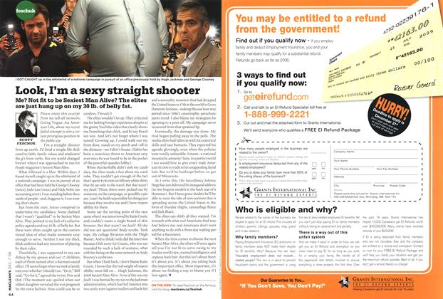 Article Preview: Look, I'm a sexy straight shooter, DEC. 7th 2009 2009 | Maclean's