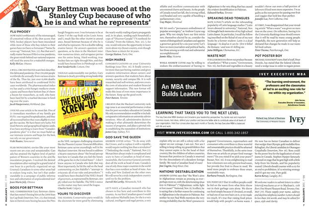 Article Preview: 'Gary Bettman was booed at the Stanley Cup because of who he is and what he represents', DEC. 7th 2009 2009 | Maclean's