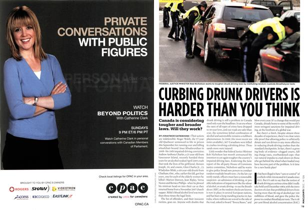 Article Preview: CURBING DRUNK DRIVERS IS HARDER THAN YOU THINK, DEC. 14th 2009 2009 | Maclean's