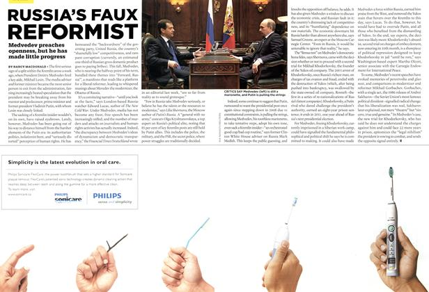 Article Preview: RUSSIA'S FAUX REFORMIST, DEC. 14th 2009 2009 | Maclean's