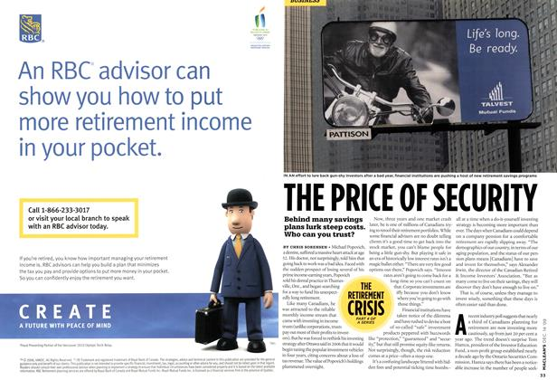 Article Preview: THE PRICE OF SECURITY, DEC. 14th 2009 2009 | Maclean's