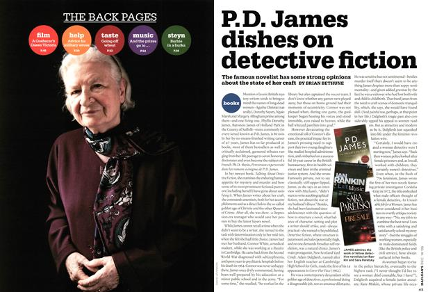 Article Preview: P. D. James dishes on detective fiction, DEC. 14th 2009 2009 | Maclean's