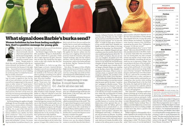 Article Preview: What signal does Barbie's burka send?, DEC. 14th 2009 2009 | Maclean's