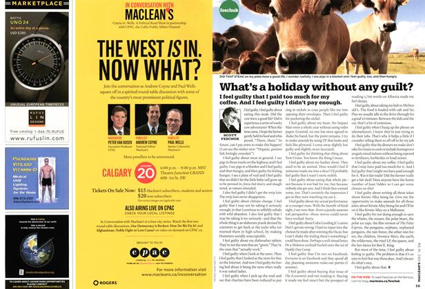 Article Preview: What's a holiday without any guilt?, DEC. 14th 2009 2009 | Maclean's