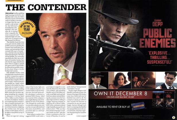 Article Preview: THE CONTENDER, DEC. 14th 2009 2009 | Maclean's