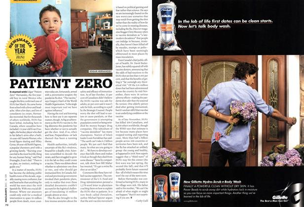 Article Preview: PATIENT ZERO, DEC. 14th 2009 2009 | Maclean's