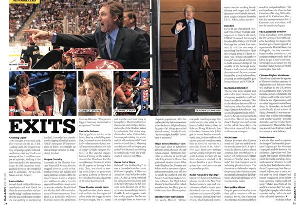 Article Preview: EXITS, DEC. 14th 2009 2009 | Maclean's