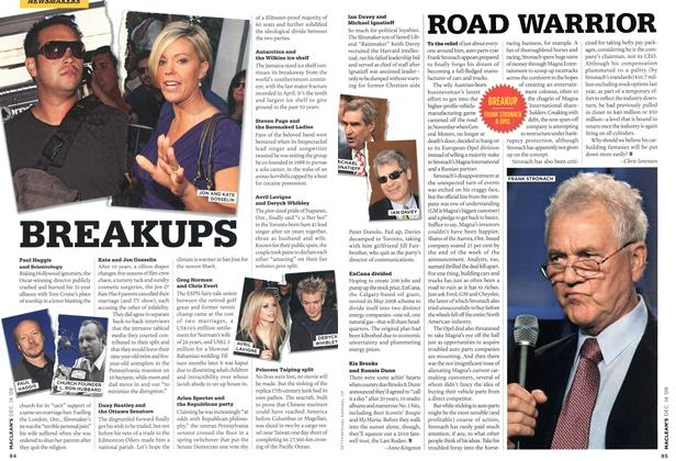 Article Preview: ROAD WARRIOR, DEC. 14th 2009 2009 | Maclean's