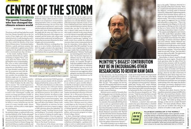 Article Preview: CENTRE OF THE STORM, DEC. 28th 2009 2009 | Maclean's